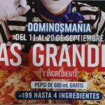 Domino's Pizza: 2 pizzas grandes por $199 + refresco de 600 ml