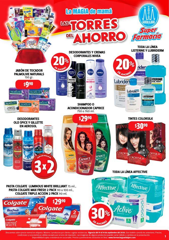 Folleto Farmacias Guadalajara ofertas del 1 al 14 de septiembre 2020