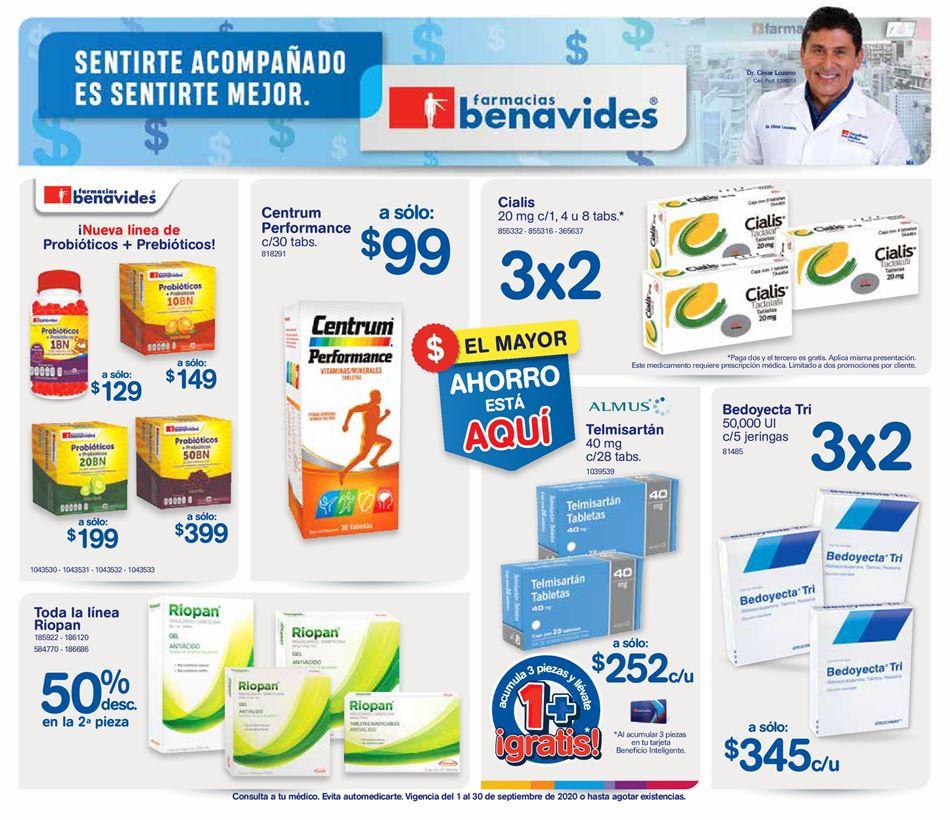 Farmacias Benavides – Folleto de ofertas Septiembre 2020