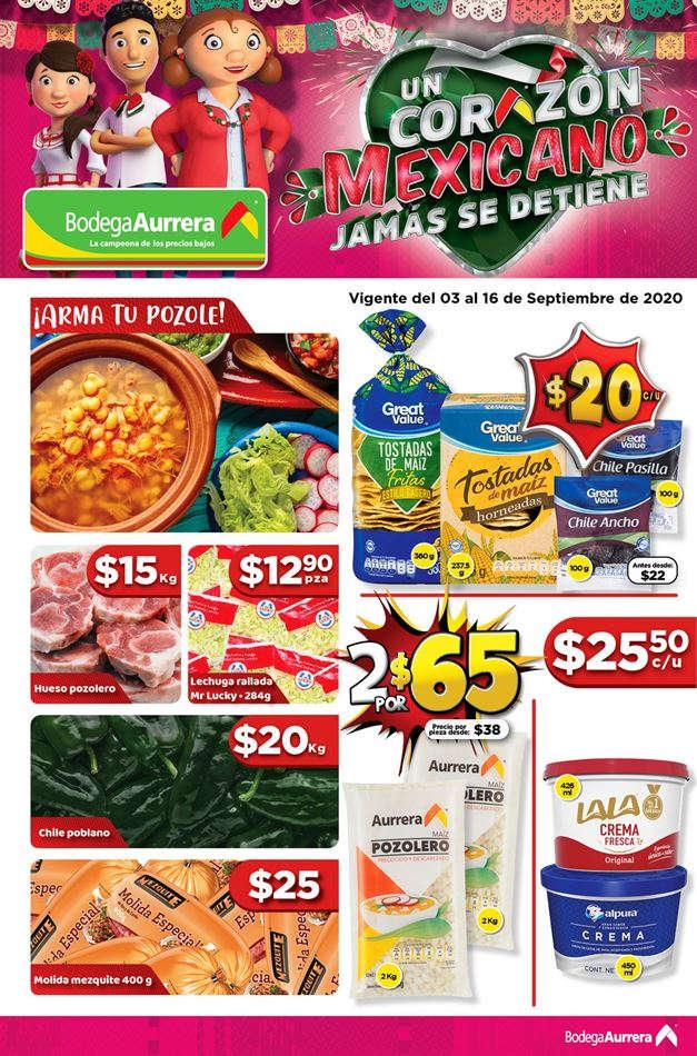 Bodega Aurrerá – Folleto Fiestas Patrias del 3 al 16 de septiembre 2020