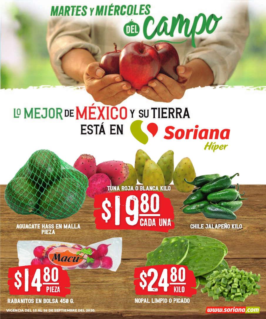 Folleto Soriana Martes y Miércoles del Campo 15 y 16 de Septiembre 2020