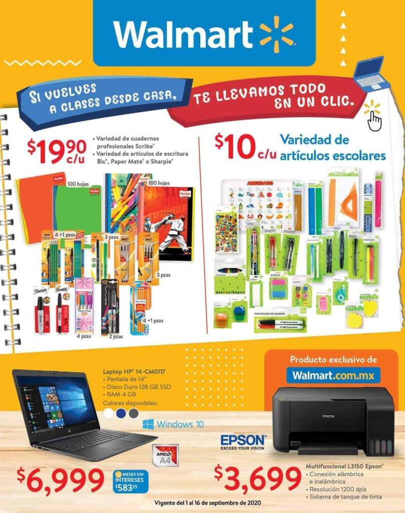 Folleto Walmart ofertas del 1 al 16 de septiembre 2020