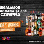 La Comer: $250 de descuento por cada $1000 en Vinos y Licores