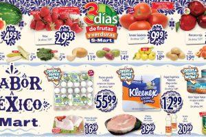 Folleto S-Mart frutas y verduras del 1 al 3 de septiembre de 2020