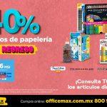 Promoción OfficeMax Regreso a Clases hasta 40% de descuento papelería