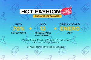 Promoción Palacio de Hierro Hot Fashion 2020: hasta 70% de descuento