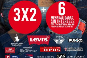 Sears: 3x2 en Jeans de marcas seleccionadas + 6 meses sin intereses