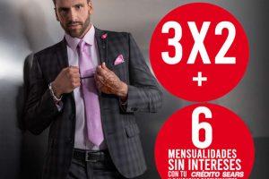 Sears: 3x2 en trajes, sacos, camisas y pantalones de vestir para caballero