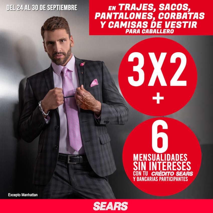 Sears: 3×2 en trajes, sacos, camisas y pantalones de vestir para caballero
