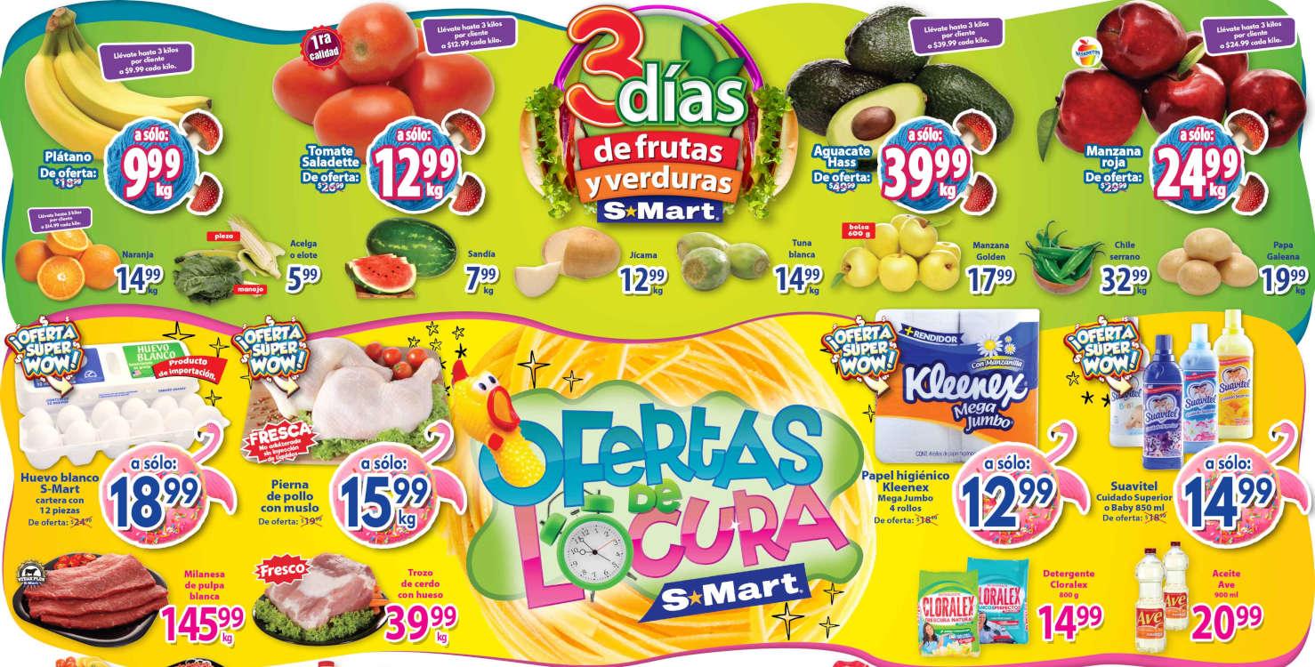 Folleto S-Mart frutas y verduras del 29 de septiembre al 1 de octubre 2020