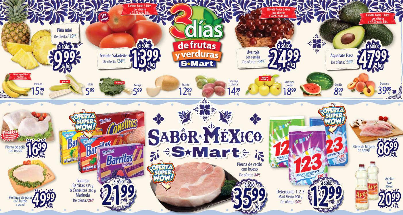 Folleto S-Mart frutas y verduras del 8 al 10 de septiembre 2020