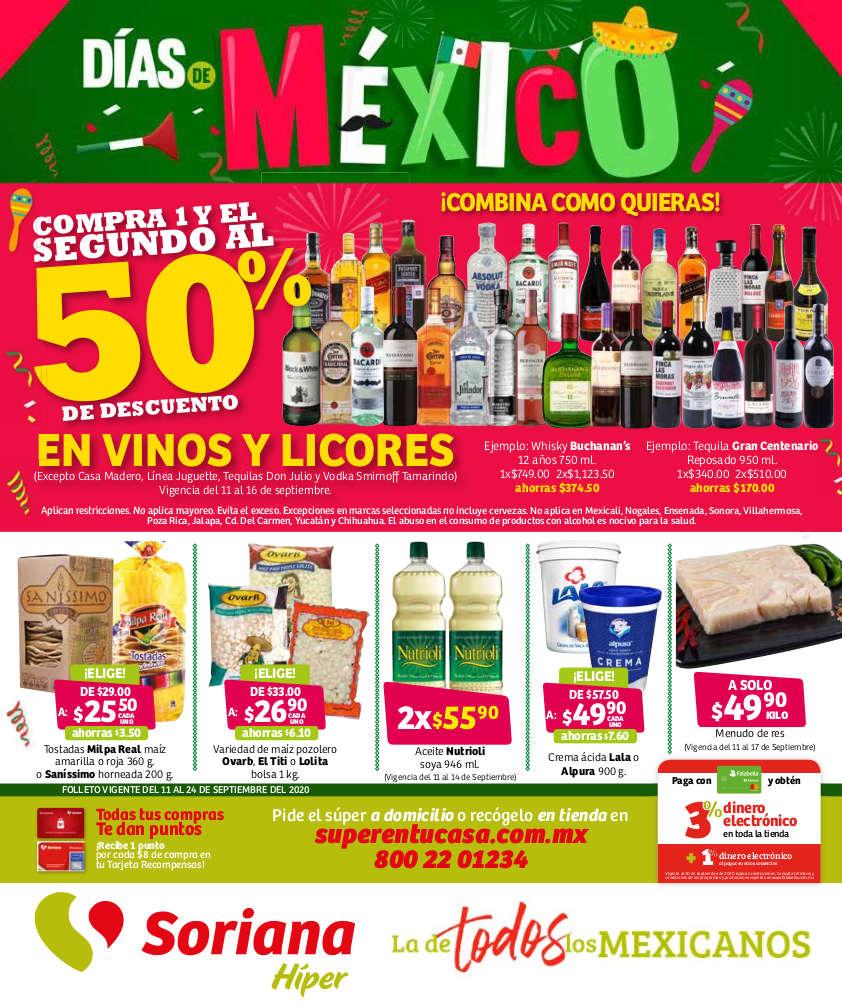 Folleto Soriana Días de México del 11 al 24 de diciembre 2020