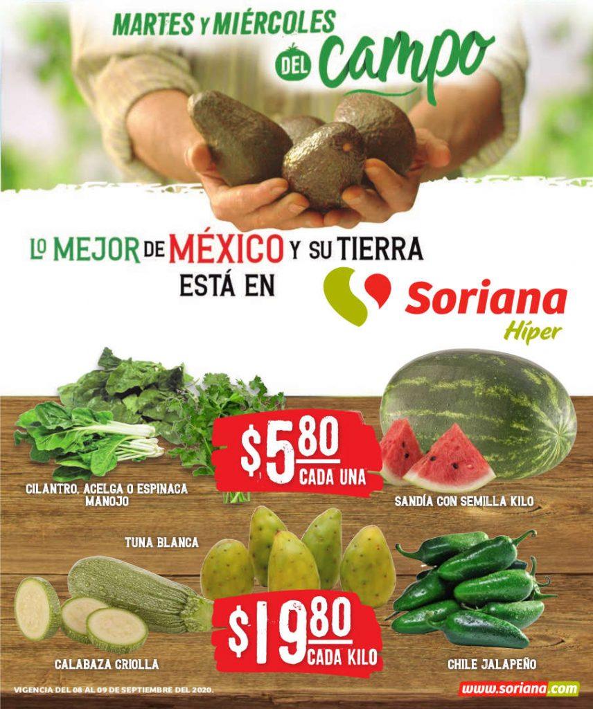 Folleto Soriana Martes y Miércoles del Campo 8 y 9 de septiembre 2020