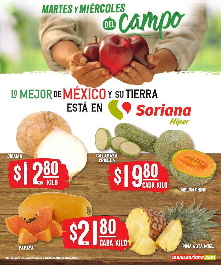 Folleto Soriana Martes y Miércoles del Campo 22 y 23 de septiembre 2020