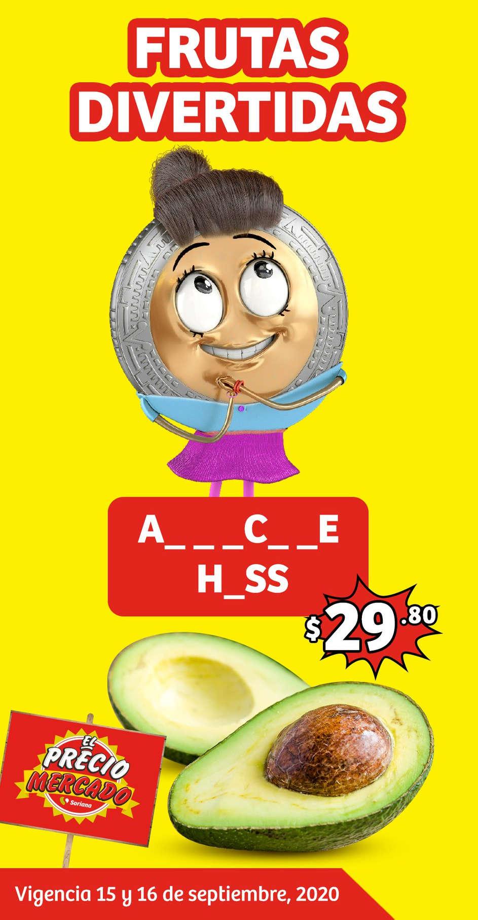 Soriana Mercado: frutas y verduras 15 al 17 de septiembre 2020