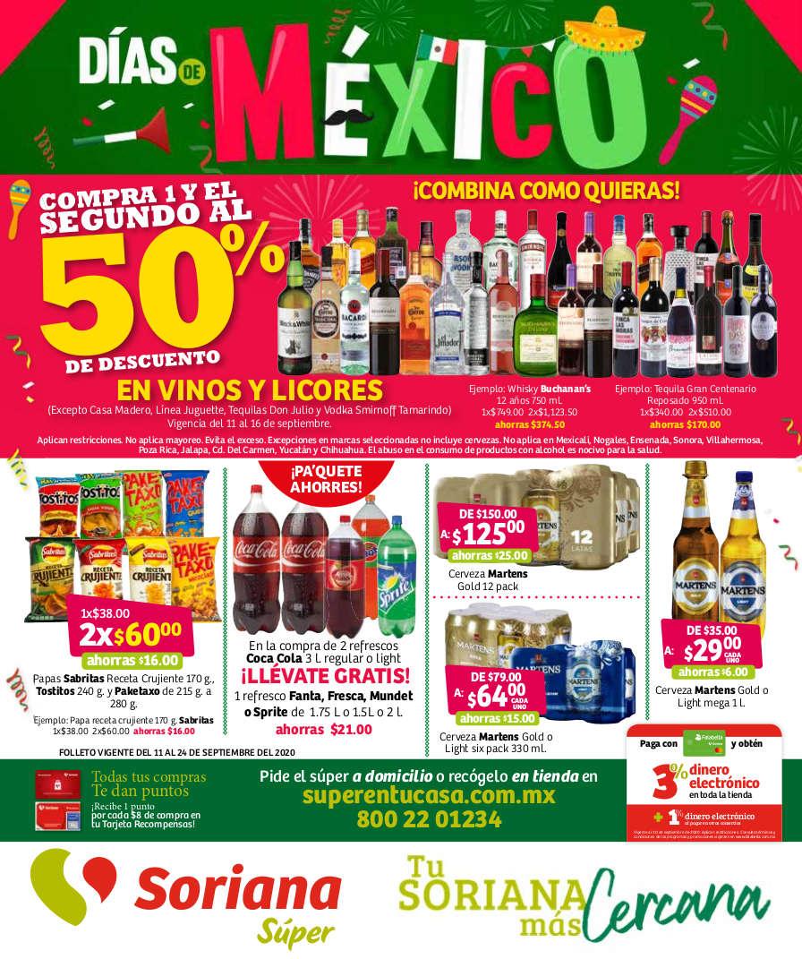 Soriana Súper – Folleto Días de México del 11 al 24 de diciembre 2020