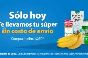 Walmart: Envió Gratis Súper Jueves 3 de Septiembre 2020