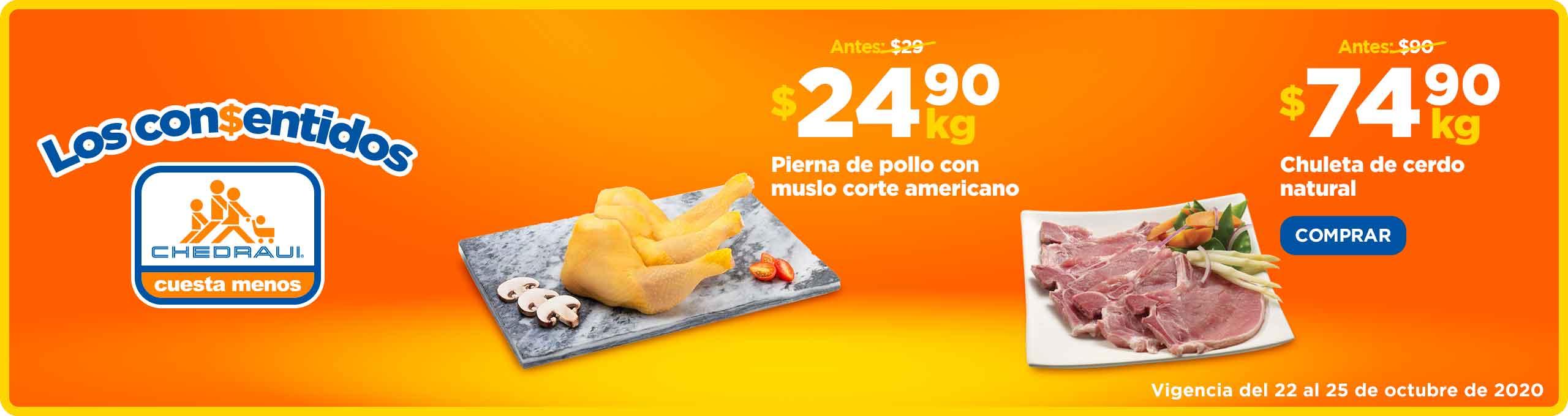 Ofertas Chedraui Fin de Semana en carnes del 22 al 25 de octubre 2020