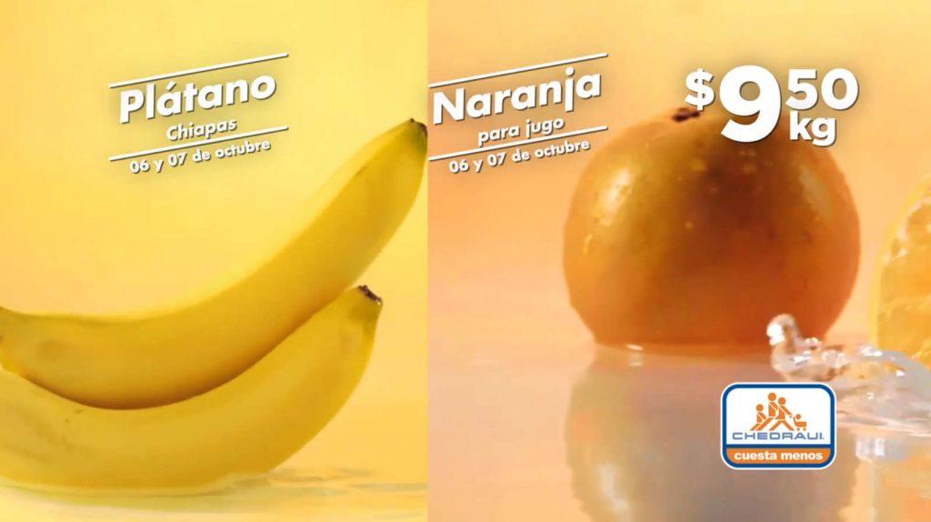 Frutas y Verduras Chedraui 6 y 7 de octubre 2020