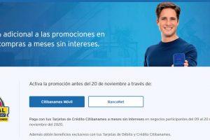 Buen Fin Citibanamex 2020: 10% de bonificación a meses sin intereses