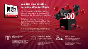 El Buen Fin Soriana 2020: Cupón $500 pesos de descuento
