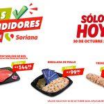 Ofertas Soriana Híper y Súper Días Rendidores 30 de octubre 2020