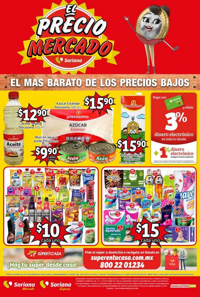 Folleto Soriana Mercado Ofertas del 2 al 15 de octubre 2020