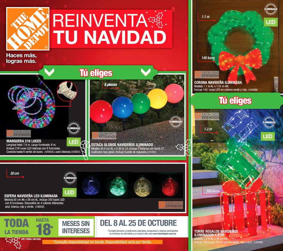 Folleto The Home Depot Navidad 2020 del 8 al 21 de octubre