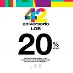 Promoción 42 Aniversario de Lob hasta 20% de descuento