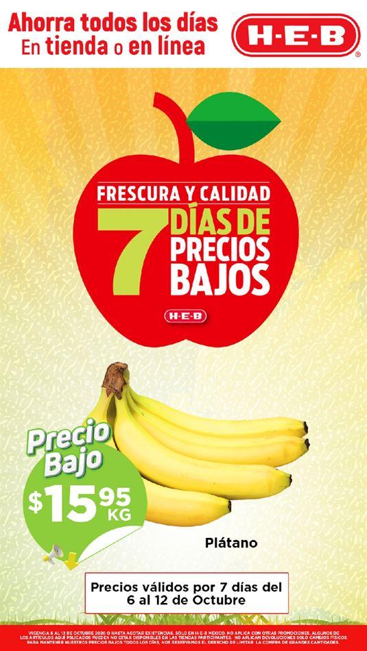 Folleto HEB Frutas y Verduras del 6 al 12 de octubre 2020