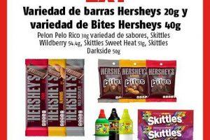 Oxxo: 2x1 en Pelón Pelón Rico, Skittles, Barras Hershey's y Bites