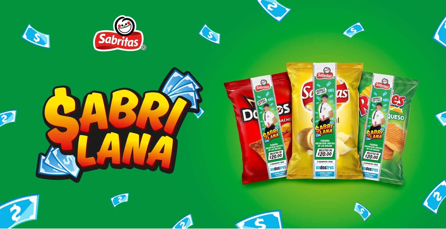 Promoción Sabritas 2020 Sabri Lana: Gana Dinero y Billetes de $20