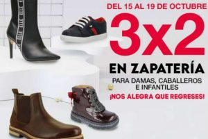 Sears 3x2 en zapatería para, dama, caballero e infantiles octubre 2020