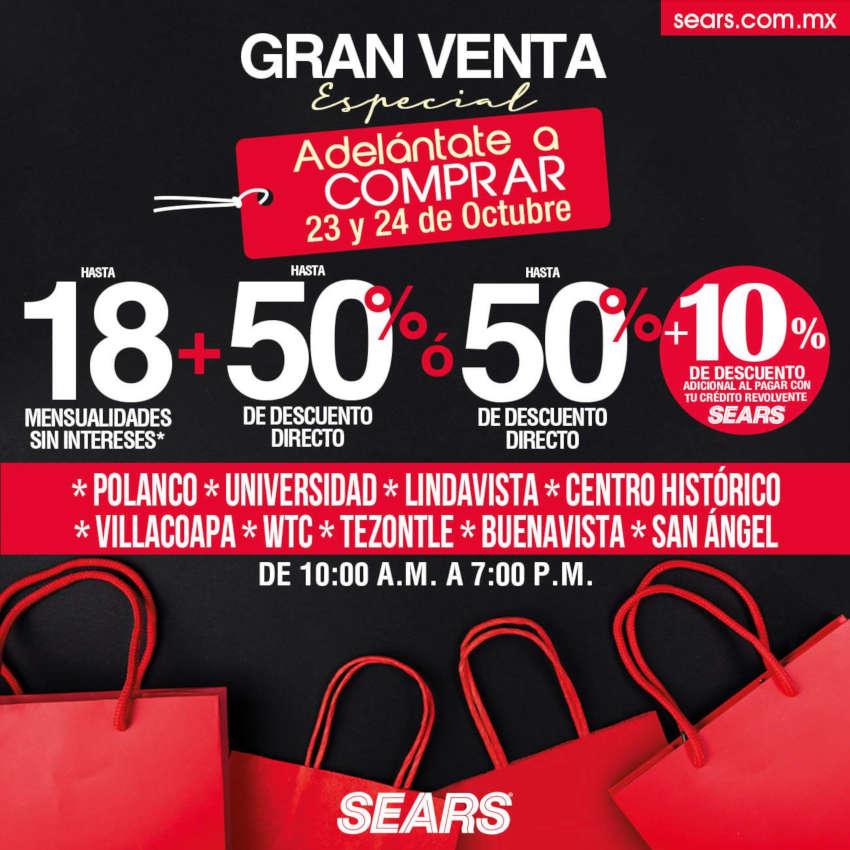 Venta Especial Sears 23 y 24 de octubre de 2020