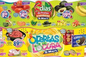 Folleto S-Mart frutas y verduras del 6 al 8 de octubre 2020