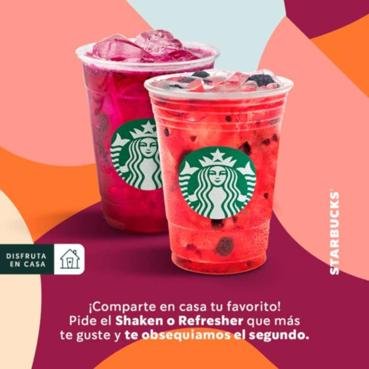 Starbucks: 2×1 Shakens o Refreshers del 12 al 15 de octubre 2020