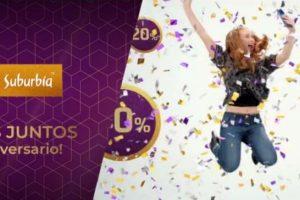 Ofertas de aniversario 50 en Suburbia hasta 50% de descuento y 7 msi