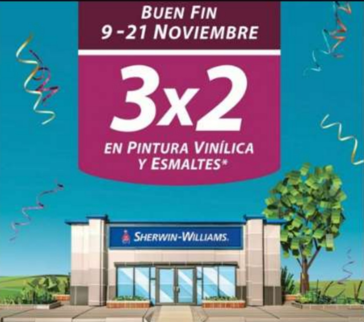 El Buen Fin 2020 en Sherwin Williams Pintura al 3×2