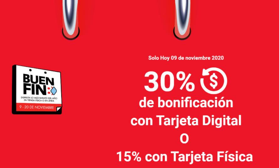 Banorte Buen Fin 2020: 30% de Bonificación pagando con tarjeta Digital