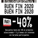 El Buen Fin 2020 Bershka: 40% de descuento + 6 msi