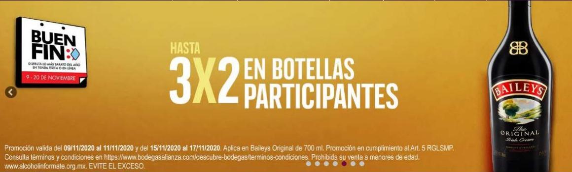 Bodegas Alianza Buen Fin 2020: 3×2 en botellas participantes