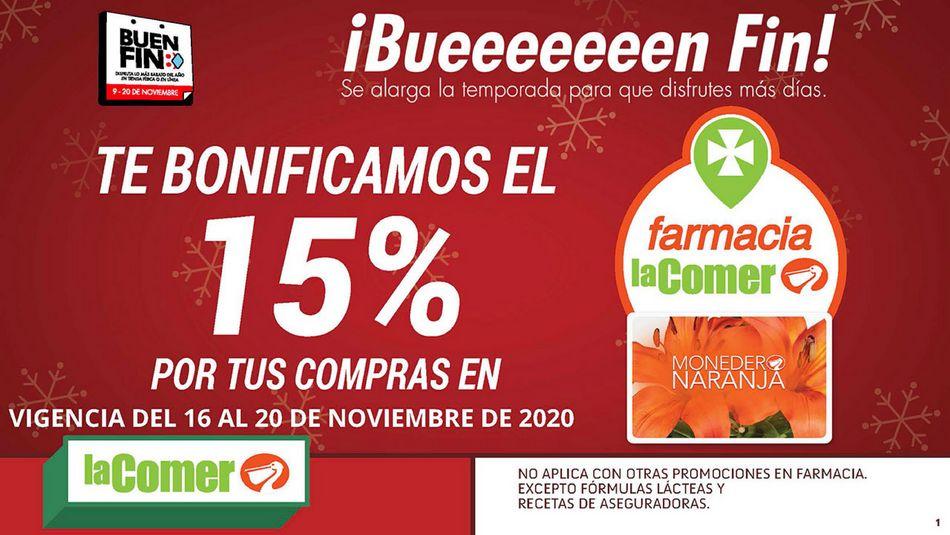 Folleto Buen Fin 2020 en La Comer del 16 al 20 de noviembre