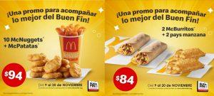 Cupones McDonalds Buen Fin 2020: Descuentos desde $84 pesos