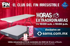 Sams Club Buen Fin 2020 Horas Extraordinarias 10 de noviembre