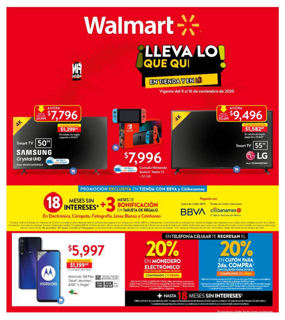 Folleto Walmart Buen Fin 2020 Irresistible del 9 al 16 de noviembre