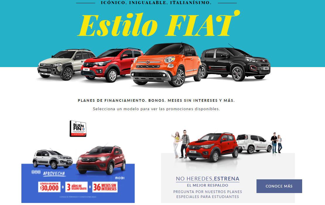Promociones Fiat Buen Fin 2020: Financiamiento, bonos y meses sin intereses