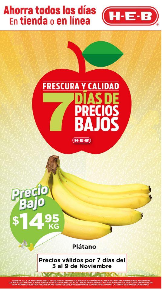 Folleto HEB Frutas y Verduras del 3 al 9 de noviembre 2020