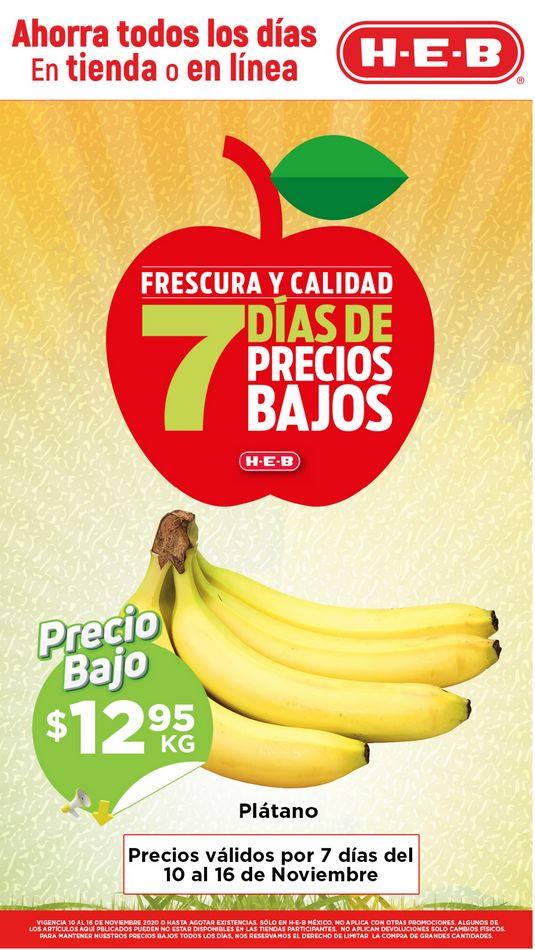 Folleto HEB Frutas y Verduras del 10 al 16 de noviembre 2020