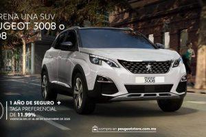 Promociones Peugeot Buen Fin 2020: Bonos de Hasta $30,000