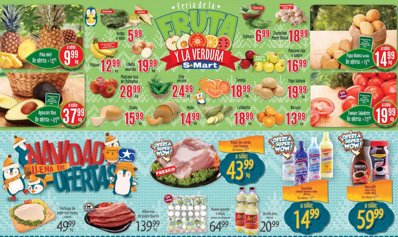 Folleto S-Mart frutas y verduras del 24 al 26 de noviembre 2020